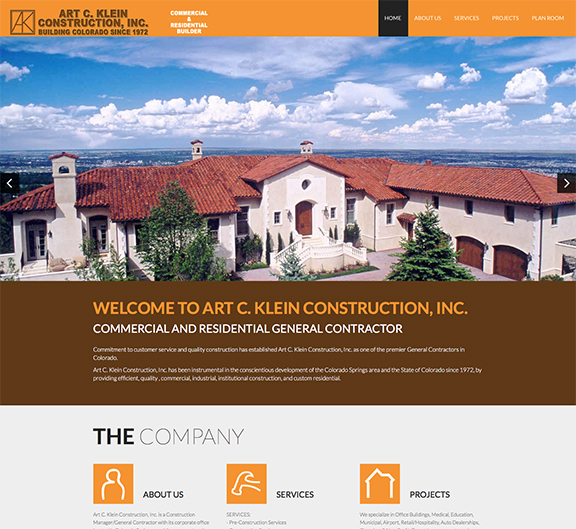 Art Klein Construction Home page