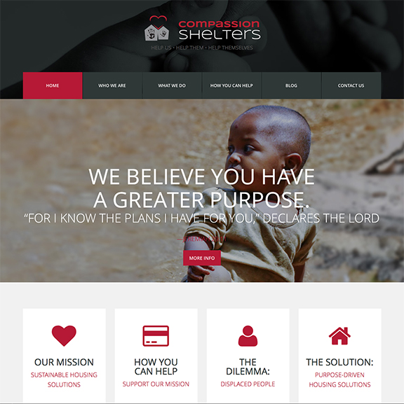 Compassion Shelters Home page