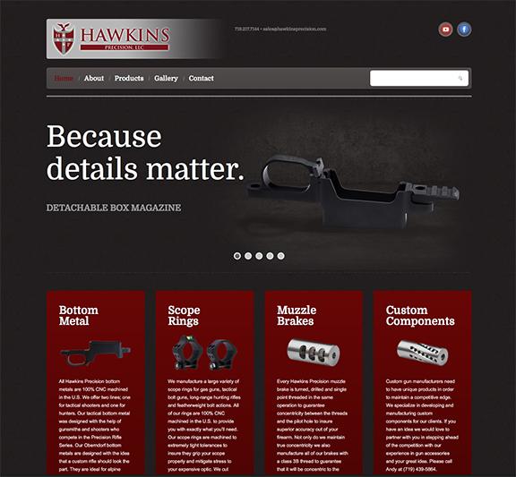 Hawkins Precision Home page