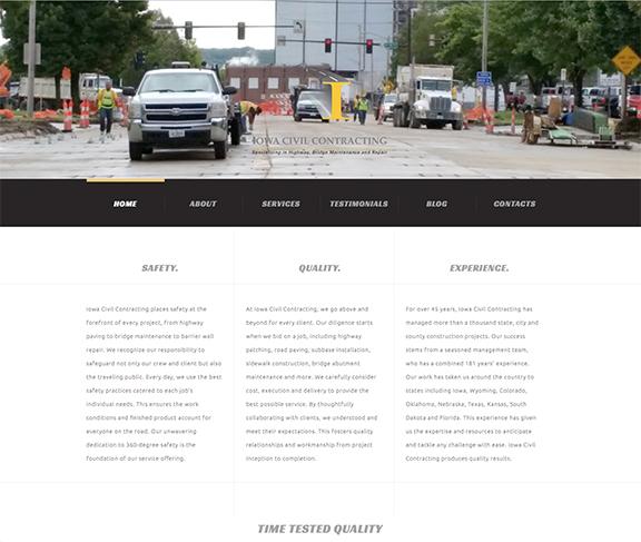Iowa Civil Contracting Home page