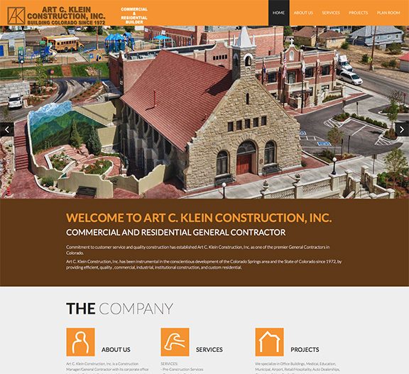Klein Construction Home page