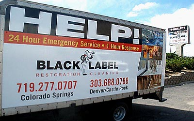 Black Label truck graphics