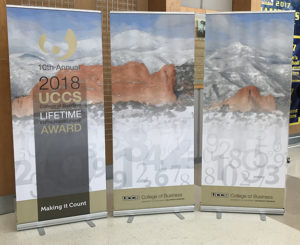 UCCS Trade Show Retractable Banner Stand