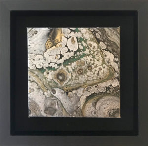 Blk whit gold green marble shadow box_sm