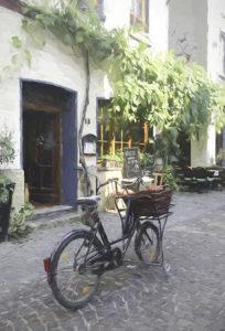 Germany bike on street in village_sm
